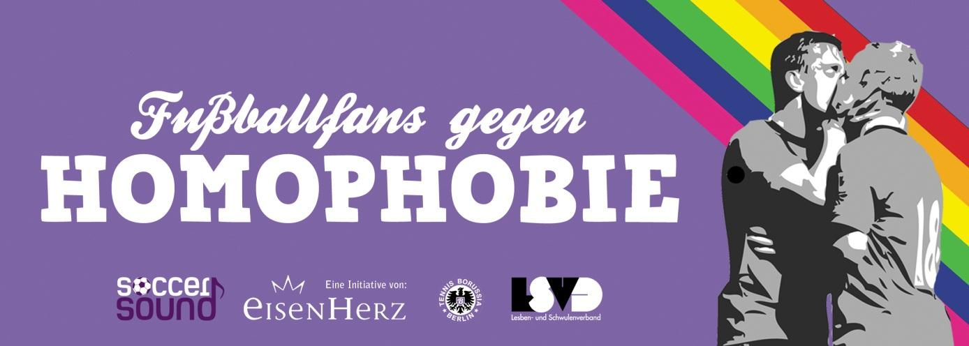 Banner gegen Homophobie